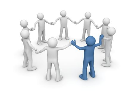 Team building (3d isolated characters, business series)