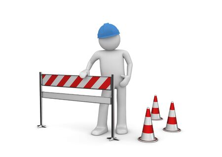 2010 new under construction (3d isolated characters, business series) Stock Photo - 6316624
