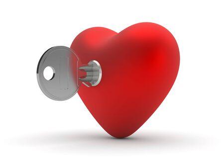 Key to heart (love, valentine day, wedding series) photo