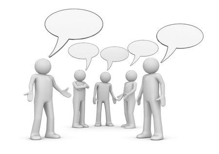 Conferentie  chat (3d geïsoleerde tekens serie)