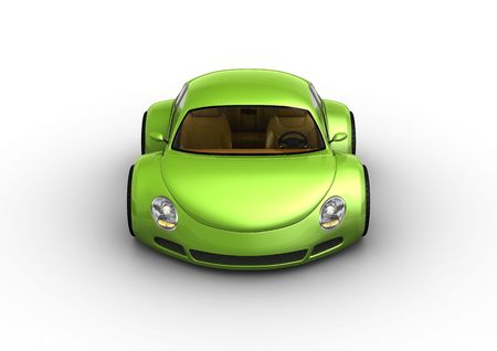 nonexistent: Smiling green car (baby cars series) Stock Photo