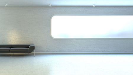Interrior wall window copyspace (hitech interior series) Stock Photo - 6355048