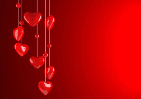 Red valentine background (love, valentine day series) Stock Photo - 6355062