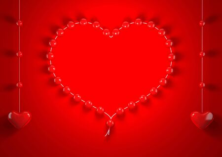 Red valentine hearts background (love, valentine day series) Stock Photo - 6381777