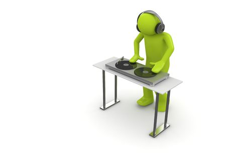 Acid DJ (3d isolated characters on white background series) photo