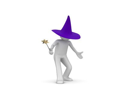 evoke: Wizard (3d isolated characters on white background series)
