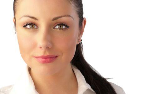 azafata: Retrato de celebridades como mujer joven atractiva