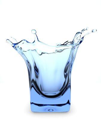 immobile: Salpicaduras de vidrio (3d aislados en la serie de los objetos de fondo blanco)  Foto de archivo