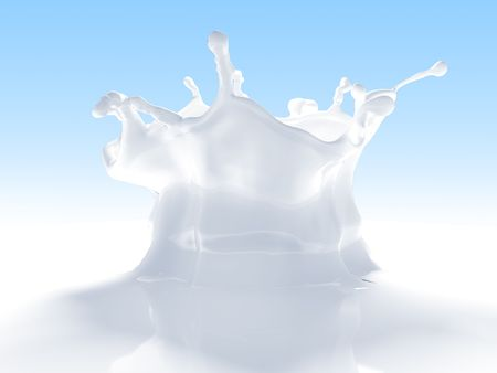 Outstanding milk splash (remarkable simulated 3d fluids splashes isolated series)