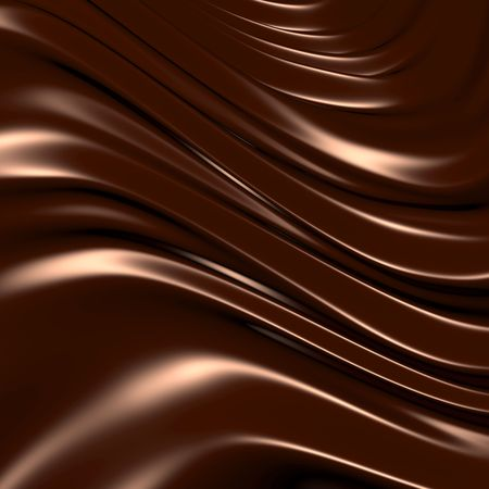 melted chocolate: Abstract chocolate background (3d remarkable abstract backgrounds and objects series)
