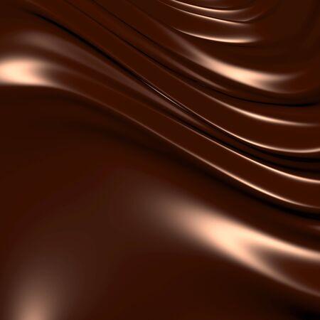 melt chocolate: Abstractos de chocolate de fondo (3d notable abstracta fondos y objetos serie)  Foto de archivo