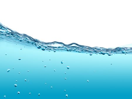Underwater bubbles (3d water experiments with copy space series)