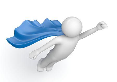 Superhero von Film-Poster (3d isoliert auf weißem Hintergrund Zeichen Serie) Standard-Bild - 6630567
