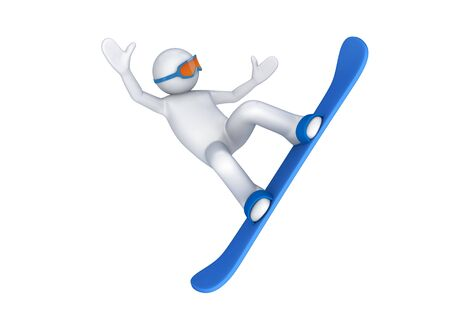 Snowboarder (3d isolated on white background sports characters series)