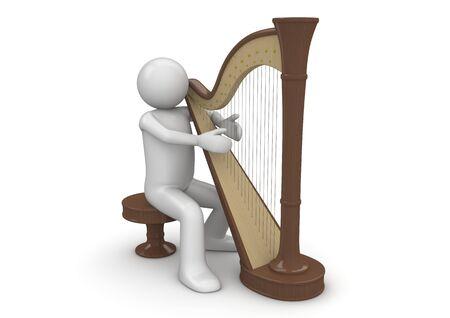 하프시스트 (3d 흰색 배경 문자 시리즈 절연)