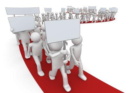 gewerkschaft: 3D Zeichen isoliert auf weißem Hintergrund-Serie
