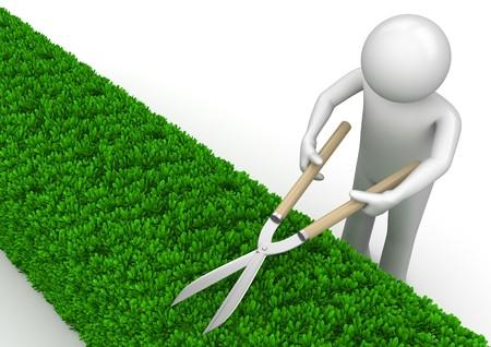 jardineros: caracteres 3D aislados en la serie de fondo blanco