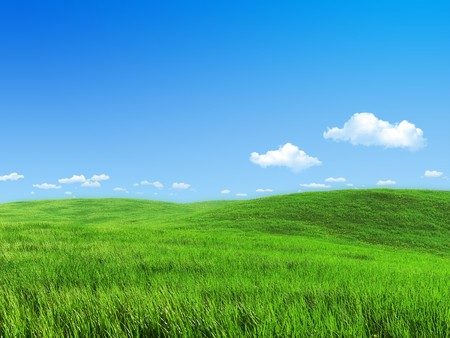 green meadows: Remarkable abstract 3d backgrounds  wallpapers series