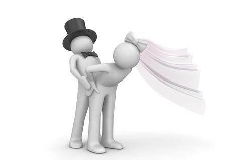 caracteres 3D aislados en la serie de fondo blanco