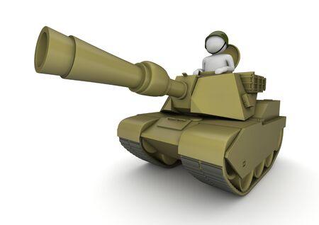 cartoon soldat: 3D Zeichen isoliert auf weißem Hintergrund-Serie