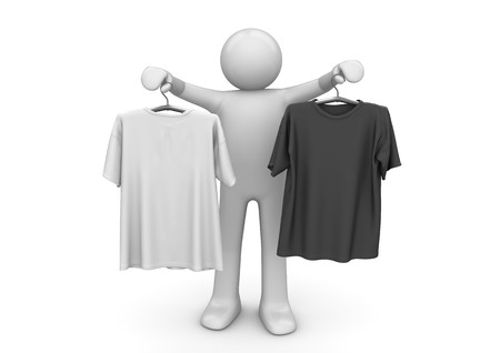 tee shirt: 3d characters isolated on white background series Stock Photo