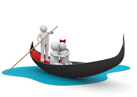3d boat: 3d characters isolated on white background series Stock Photo