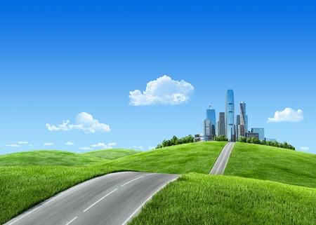 the center of the city: 3D de naturaleza notable de fondos  wallpapers de serie