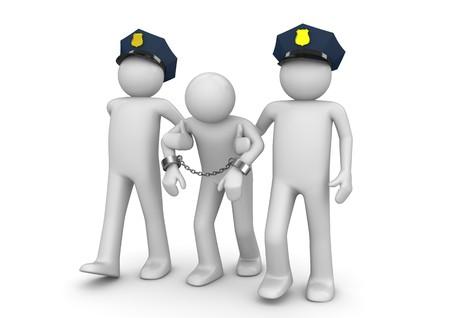 polizist: 3D Zeichen isoliert auf wei�em Hintergrund-Serie