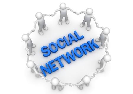 Sociaal net werk mensen circle - concepten collectie
