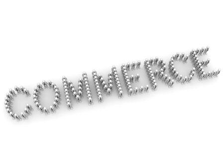 commerce: Businessmen crowd making COMMERCE word