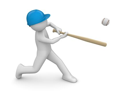 baseball cartoon: Baseball player - Sports collection Stock Photo