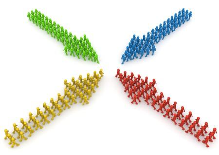 4 色文字矢印形成の会議
