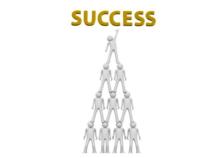 Pyramid of success - Crowds collection photo