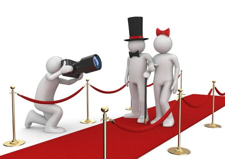 Celebrities on red carpet - Lifestyle collection Stock Photo