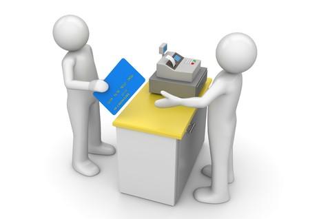 Paiement par carte de crédit sur le Bureau de la trésorerie - Finances collection Banque d'images - 8201032