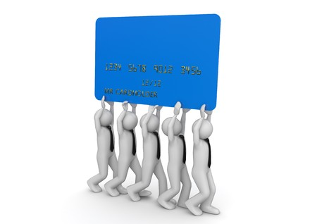 Biiiiig credit card - Finance collection Stock Photo - 8201034