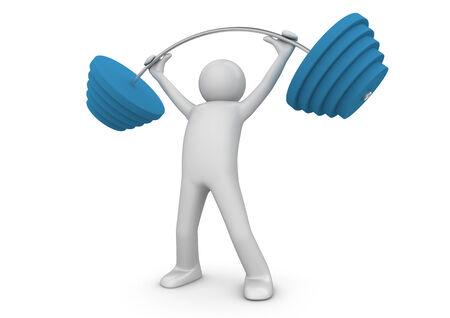lifter: Weight lifter Stock Photo