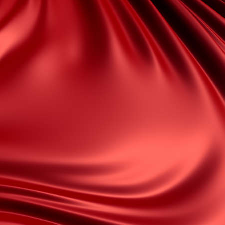 Red creased cloth  material. Clean, detailed render. Backgrounds series.