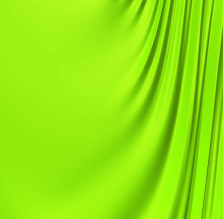 Abstract green creased background. Clean, detailed render. Backgrounds series. Stok Fotoğraf - 9056602
