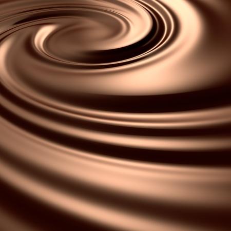 驚異的なチョコレートを旋回。きれいで、詳細をレンダリングします。背景のシリーズ。 写真素材 - 9056611
