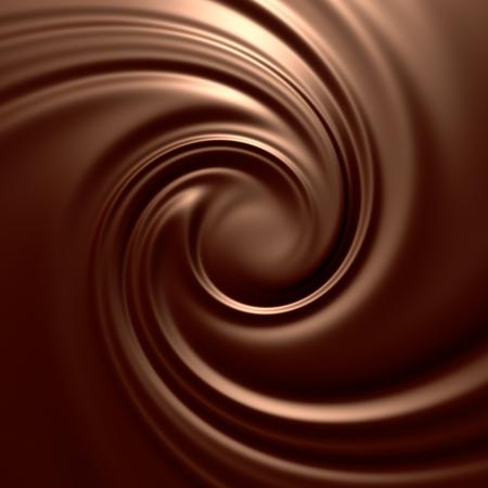 chocolate melt: Ricciolo di cioccolato sorprendente. Pulito, dettagliata di rendering. Serie di sfondi.