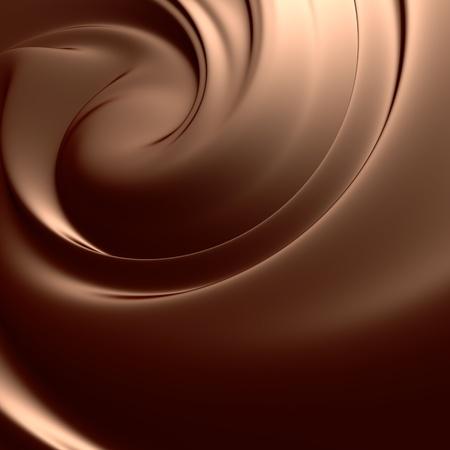 Verbazingwekkende chocolade swirl. Schoon, gedetailleerde maken. Achtergronden serie.