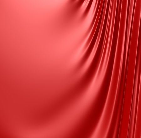 fabric texture: Abstract red background. Clean, detailed render. Series. Stock Photo