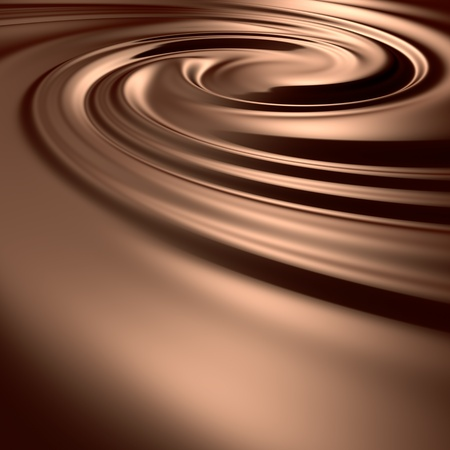 Astonishing chocolate swirl. Clean, detailed render. Backgrounds series. Stock Photo