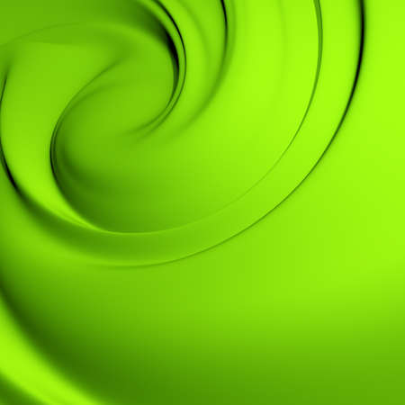 Abstract green whirlpool. Clean, detailed render. Backgrounds series.