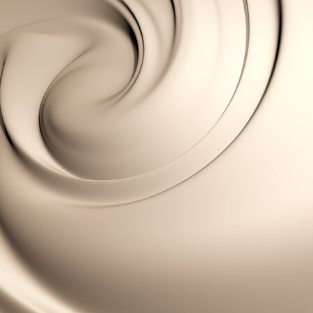 Astonishing creamy swirl. Clean, detailed render. Backgrounds series.