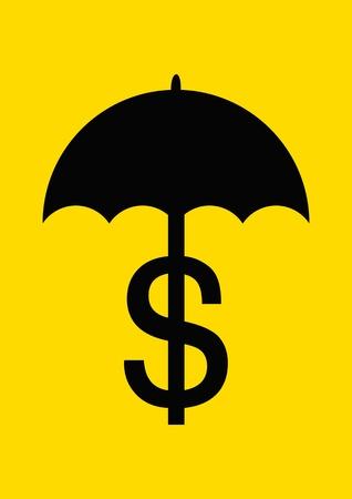 Save dollar concept vector! Иллюстрация