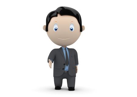 Herzlich Willkommen! Soziale 3D-Charaktere: Geschäftsmann Hand für shake, willkommen oder Gruß. New ständig wachsende Sammlung von ausdrucksstarken Bildern einzigartige Multiuse Menschen. Standard-Bild - 11454708