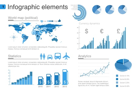 Infographics design template. Editable.