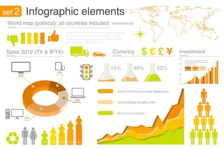 Infografía elementos con iconos. Para los informes de negocios y las finanzas, estadísticas, gráfico diagrama de Foto de archivo - 12840972